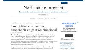 NOTICIAS INTER.NET: Los Políticos españoles suspenden en gestión emocional