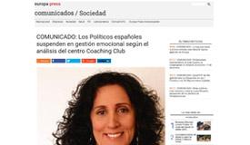 EUROPA PRESS: Los Políticos españoles suspenden en gestión emocional según el a