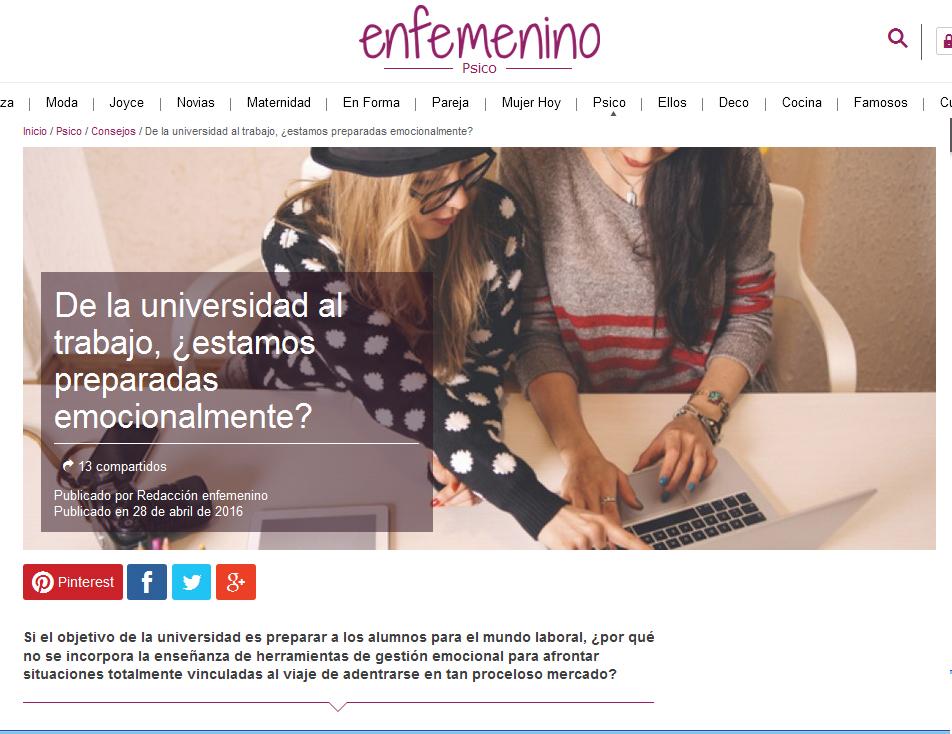 enfemenino: De la universidad al trabajo, ¿estamos preparadas emocionalmente?