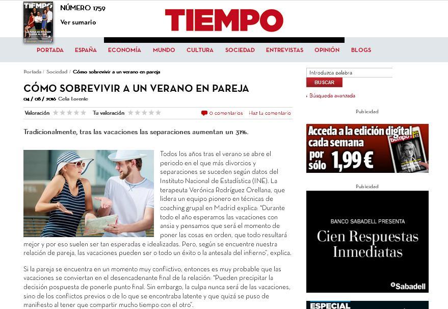 TIEMPO (online): Como sobrevivir a un verano en pareja