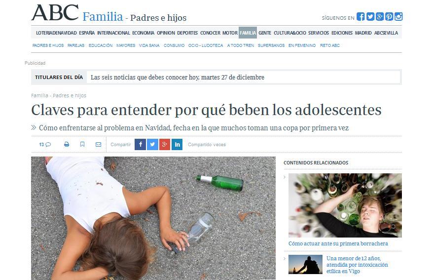 ABC: Claves para entender por qué beben los adolescentes