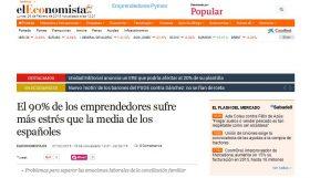 EL ECONOMISTA: El 90% de los emprendedores sufre más estrés que la media de los españoles