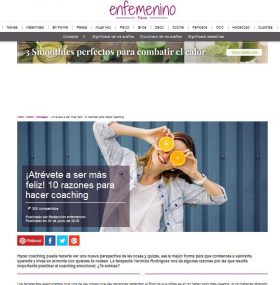 En Femenino: ¡Atrévete a ser más feliz! 10 razones para hacer coaching