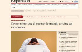 EXPANSIÓN: Cómo evitar que el exceso de trabajo arruine tus vacaciones