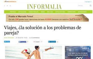 EL ECONOMISTA: Viajes, ¿la solución a los problemas de pareja?