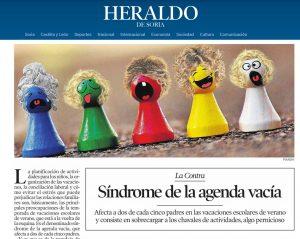 Heraldo de Soria: Síndrome de la agenda vacia