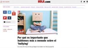 HOLA: Por qué es importante que hablemos más a menudo sobre el 'bullying'