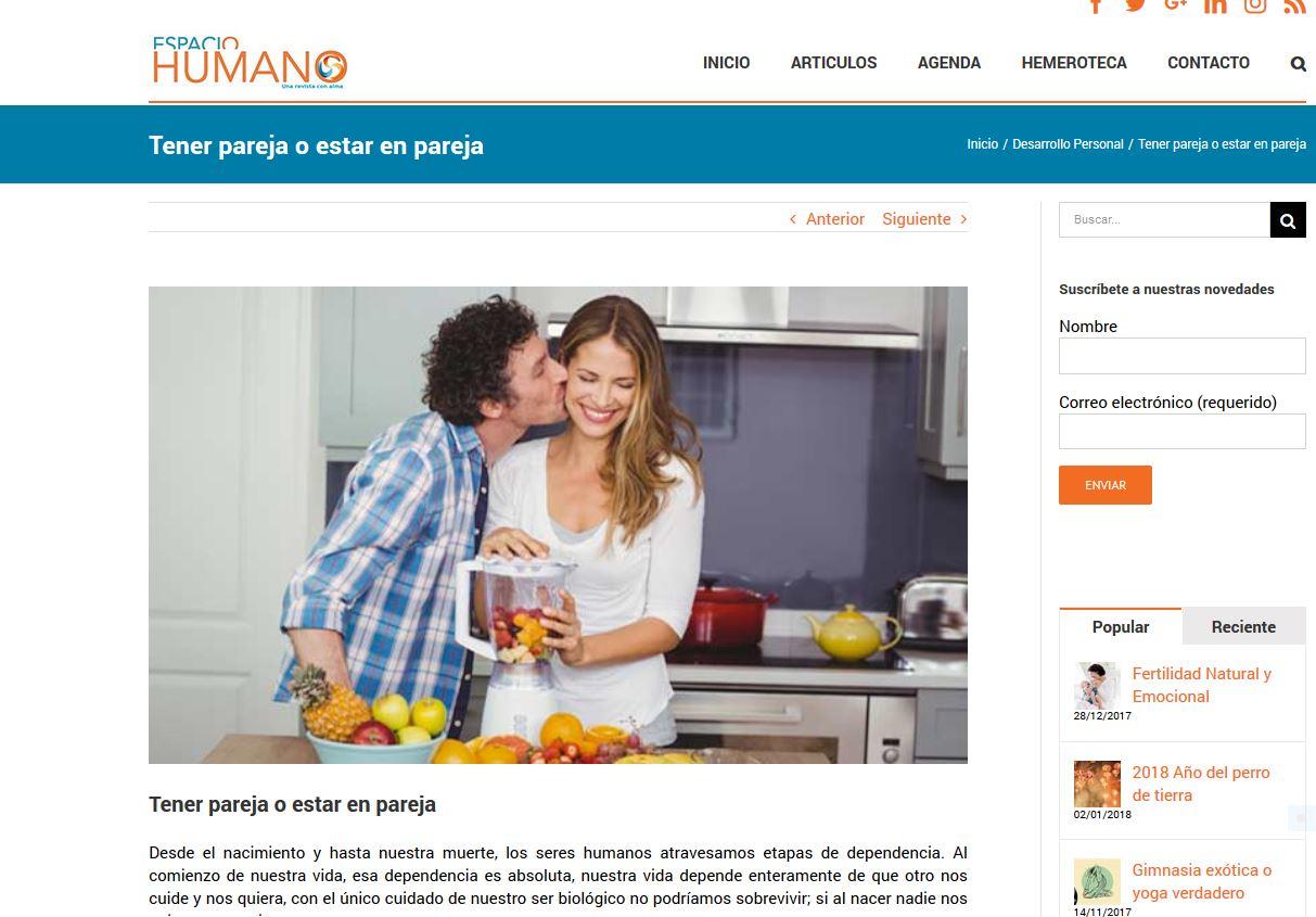 Espacio Humano: Tener pareja o estar en pareja