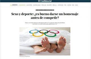 EL CONFIDENCIAL: Sexo y deporte: ¿es bueno darse un homenaje antes de competir?  Leer más: