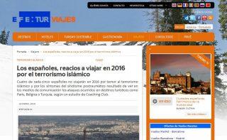 EFE TurViajes: Los españoles, reacios a viajar en 2016 por el terrorismo islámico