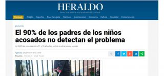 Heraldo: El 90% de los padres de los niños acosados no detectan el problema