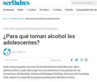 serPadres: ¿Para qué toman alcohol los adolescentes?