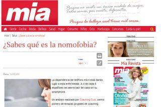 Mía: ¿Sabes qué es la nomofobia?