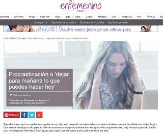 EN FEMENINO: Procrastinación o 'dejar para mañana lo que puedes hacer hoy'