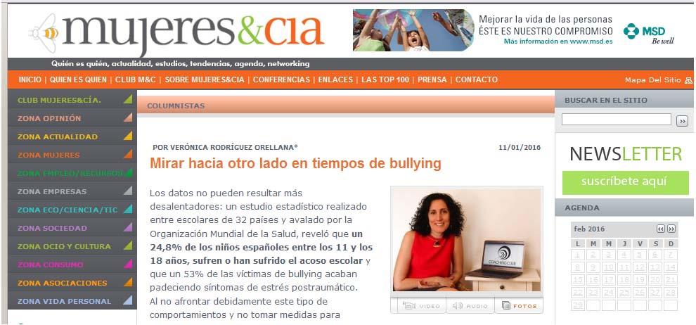 Mujeres&Cia: Mirar hacia otro lado en tiempos de bullying