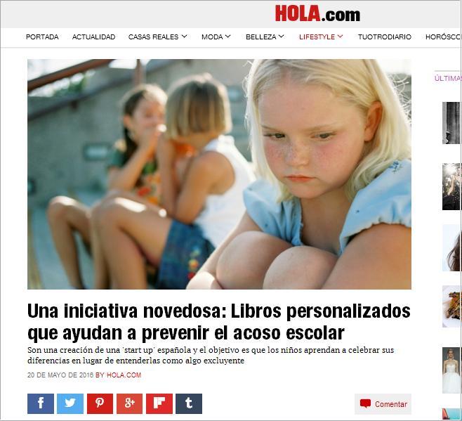 HOLA: Libros personalizados que ayudan a prevenir el acoso escolar