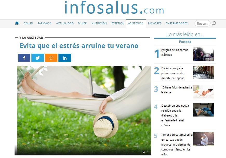 EUROPA PRESS: Evita que el estrés arruine tu verano