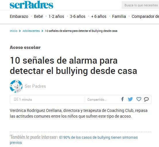 serPadres: 10 señales de alarma para detectar el bullying desde casa