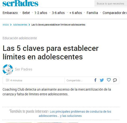 serPadres: Las 5 claves para establecer límites en adolescentes