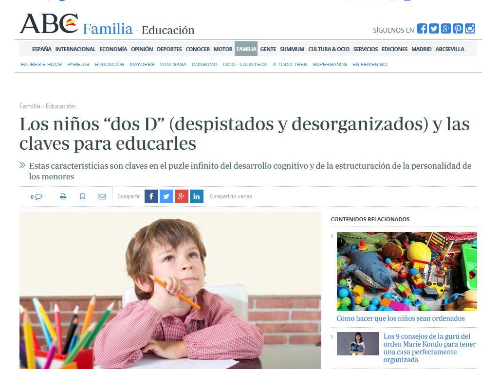 """ABC: Los niños """"dos D"""" (despistados y desorganizados) y las claves para educarles"""