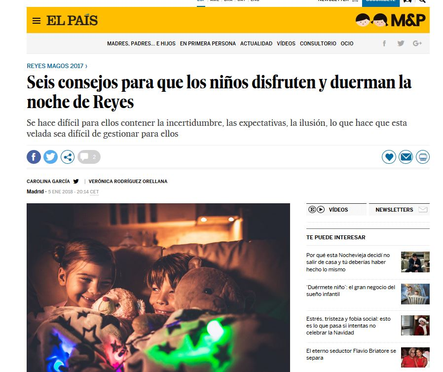 Seis consejos para que los niños disfruten y duerman la noche de Reyes