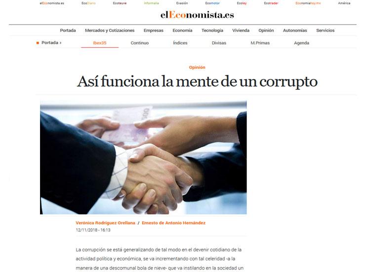 El Economista: Así funciona la mente de un corrupto