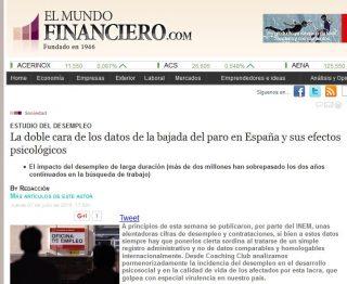 EL MUNDO FINANCIERO: La doble cara de los datos de la bajada del paro en España