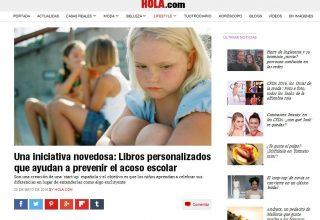 HOLA: Una iniciativa novedosa: Libros personalizados que ayudan a prevenir el acoso escolar