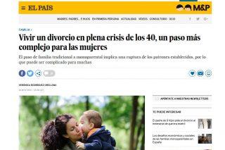 EL PAÍS: Vivir un divorcio en plena crisis de los 40, un paso más complejo para las mujeres