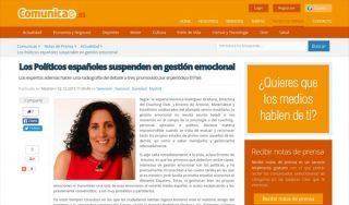 COMUNICAE: Los Políticos españoles suspenden en gestión emocional