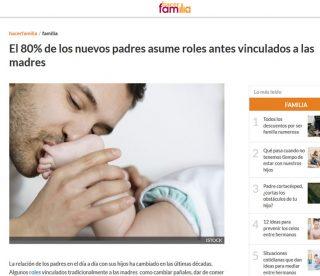 hacer familia: El 80% de los nuevos padres asume roles antes vinculados a las madres