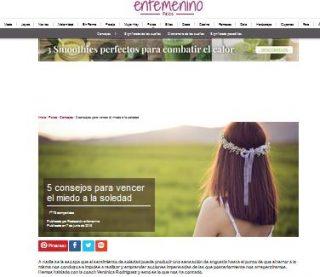 En Femenino: 5 consejos para vencer el miedo a la soledad