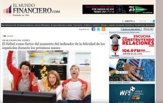 EL MUNDO FINANCIERO: El fútbol como factor del aumento del indicador de la felicidad de los españole